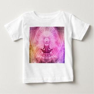 Camiseta Para Bebê Mediação da ioga