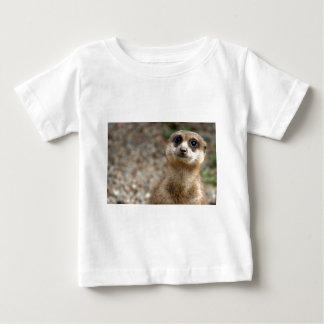 Camiseta Para Bebê Meerkat Grande-Eyed bonito