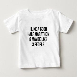 Camiseta Para Bebê Meia maratona & 3 pessoas