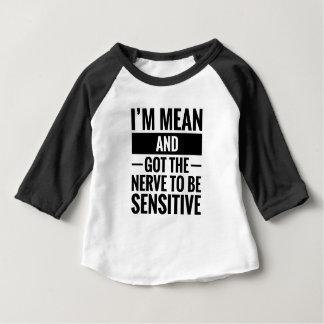 Camiseta Para Bebê Meio & sensível