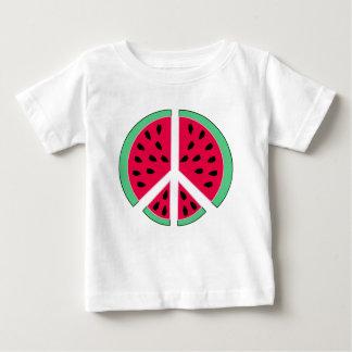 Camiseta Para Bebê Melancia da paz