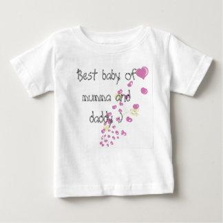 Camiseta Para Bebê Melhor babby do mumma e do pai