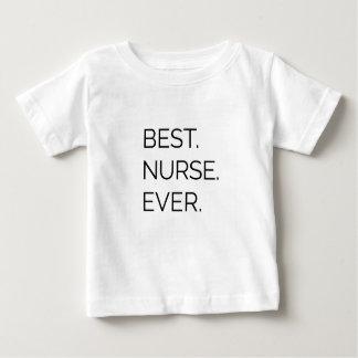 Camiseta Para Bebê Melhor. Enfermeira. Nunca