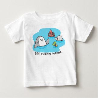 Camiseta Para Bebê Melhores amigos para sempre!