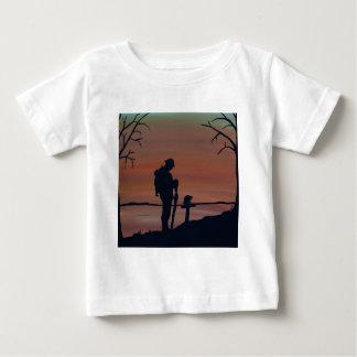 Camiseta Para Bebê Memorial, dia de Veternas, solider da silhueta no