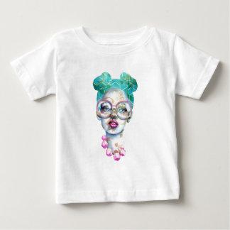 Camiseta Para Bebê Menina com arte Funky do Watercolour dos vidros