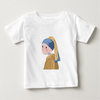 Camiseta Para Bebê Menina com um brinco da pérola