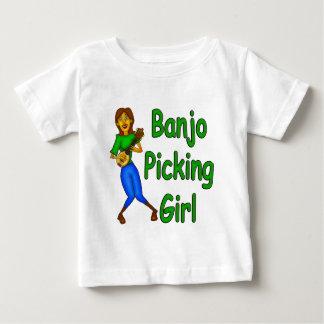 Camiseta Para Bebê Menina da colheita do banjo