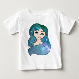 Camiseta Para Bebê Menina da galáxia