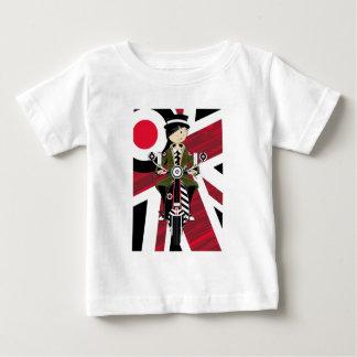 Camiseta Para Bebê Menina da modificação de Union Jack no patinete