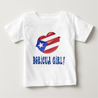 Camiseta Para Bebê Menina de Boricua