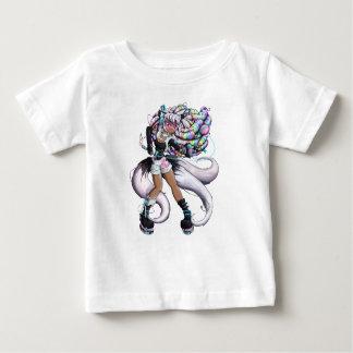 Camiseta Para Bebê Menina de Kitsune do Cyber