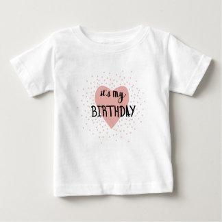 Camiseta Para Bebê Menina do aniversário