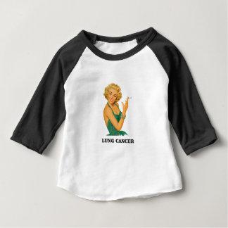 Camiseta Para Bebê menina do câncer pulmonar