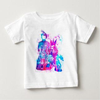 Camiseta Para Bebê Menina do gótico do algodão doce e gajo do punk