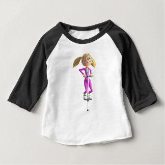 Camiseta Para Bebê Menina dos desenhos animados que monta uma vara de