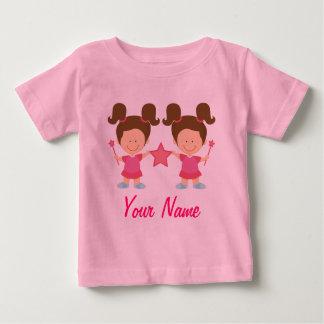 Camiseta Para Bebê Menina gêmea presente personalizado