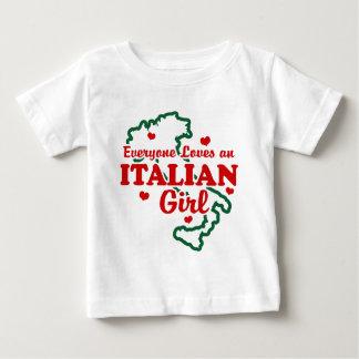 Camiseta Para Bebê Menina italiana