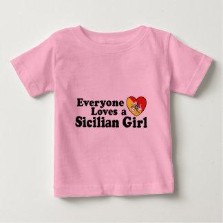 Camiseta Para Bebê Menina siciliano