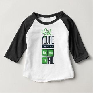Camiseta Para Bebê menina você é realmente bonito