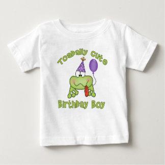 Camiseta Para Bebê Menino bonito do aniversário de Toadally