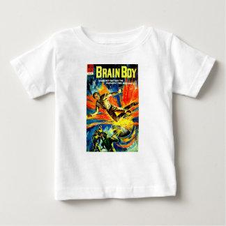 Camiseta Para Bebê Menino do cérebro e a máquina do tempo