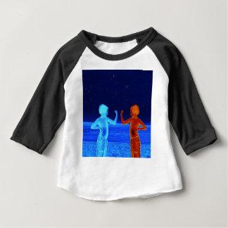 Camiseta Para Bebê Meninos do espaço