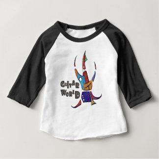 Camiseta Para Bebê Menossium - mundo da guitarra