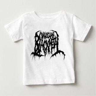 Camiseta Para Bebê Metal preto norueguês