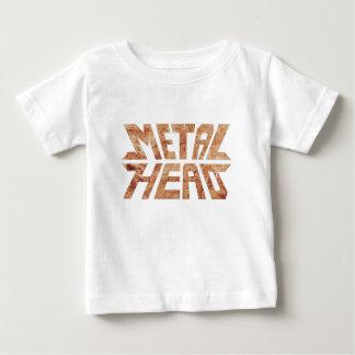 Camiseta Para Bebê MetalHead oxidado