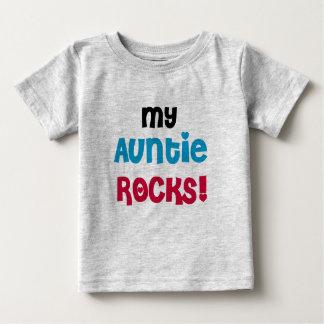 Camiseta Para Bebê Meu Auntie Rocha