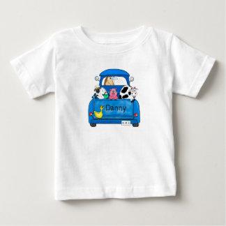 Camiseta Para Bebê Meu caminhão azul grande
