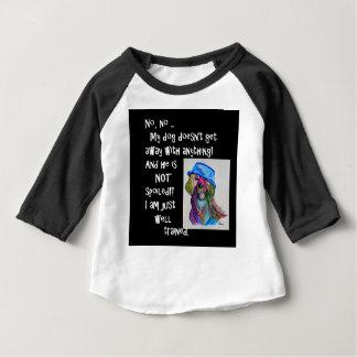 Camiseta Para Bebê Meu cão não é estragado