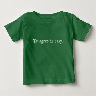 Camiseta Para Bebê Meu concorde o t-shirt do bebê das citações