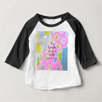 Camiseta Para Bebê Meu lugar favorito