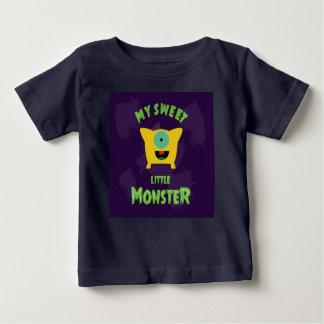 Camiseta Para Bebê Meu monstro pequeno doce
