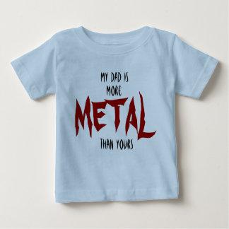 Camiseta Para Bebê Meu pai é mais METAL do que seu