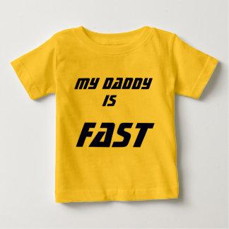 Camiseta Para Bebê Meu pai, é o mais rápido!