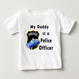 Camiseta Para Bebê Meu pai é um agente da polícia