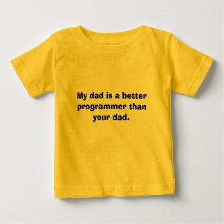 Camiseta Para Bebê Meu pai é um programador melhor do que seu