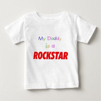 Camiseta Para Bebê Meu pai é um rockstar