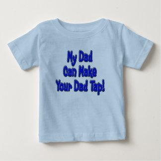 Camiseta Para Bebê Meu pai pode fazer seu pai bater!