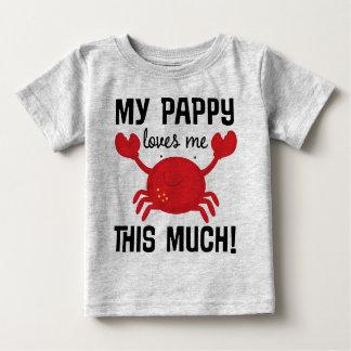 Camiseta Para Bebê Meu Pappy ama-me este muito t-shirt do neto