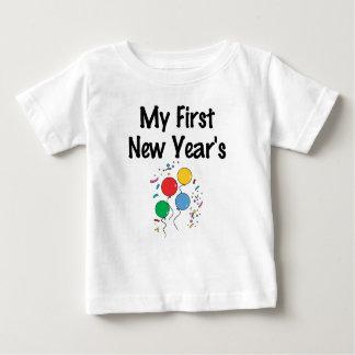 Camiseta Para Bebê Meu primeiro ano novo