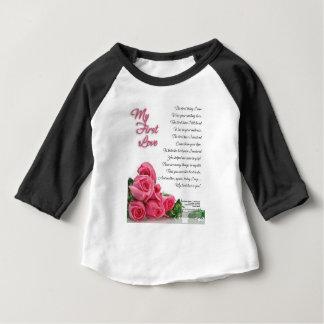 Camiseta Para Bebê Meu primeiro poema do amor