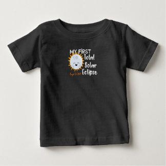 Camiseta Para Bebê Meu primeiro T 2017 total do bebê do eclipse solar