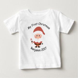 Camiseta Para Bebê Meu primeiro t-shirt do Natal