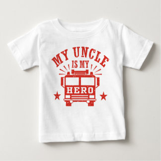 Camiseta Para Bebê Meu tio Ser Meu Herói