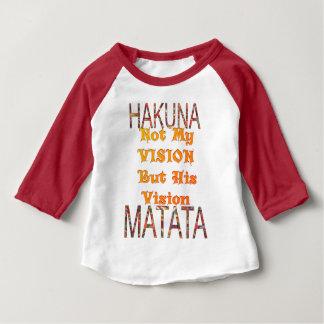 Camiseta Para Bebê Meu vintage africano da visão colore o matata de