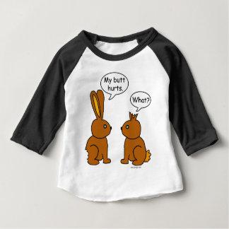 Camiseta Para Bebê Meus danos do bumbum! - Que?